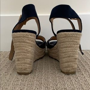 American Eagle Outfitters Shoes - Navy Wedge Heels